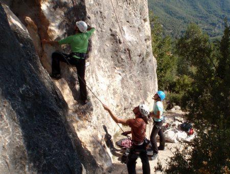 Bautismo de Escalada en Montserrat